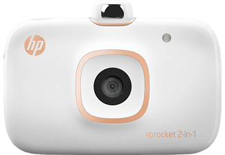 HP 2-in-1 Sprocket, Mobiler Fotodrucker, Weiß