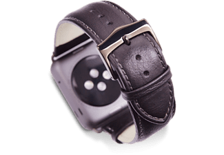 DBRAMANTE1928 COPENHAGEN APPLE WATCH STRAP 42MM - BLACK/SPACE GRAY