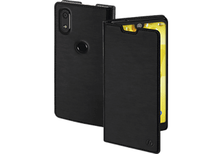 Slim Bookcover Wiko View 2 Kunststoff (High-Tech-Polyurethan) Schwarz