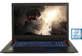 HYRICAN 1588, Gaming Notebook mit 17.3 Zoll Display, Core™ i7 Prozessor, 16 GB RAM, 500 GB SSD, 1 TB HDD, GeForce® GTX 1060, Schwarz