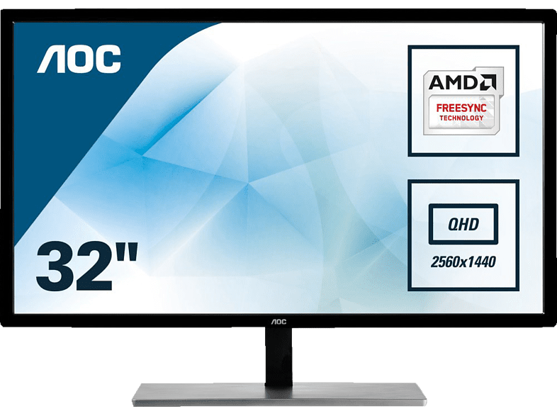 AOC  Q3279VWF QHD Gaming Monitor (5 ms Reaktionszeit, FreeSync, 75 Hz) | 04038986116176