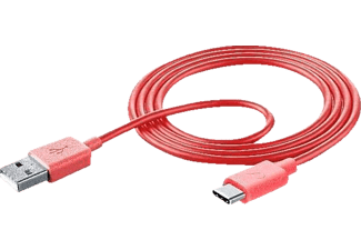 CELLULAR LINE SMART USB Type C, Datenkabel, 1 m, Pink