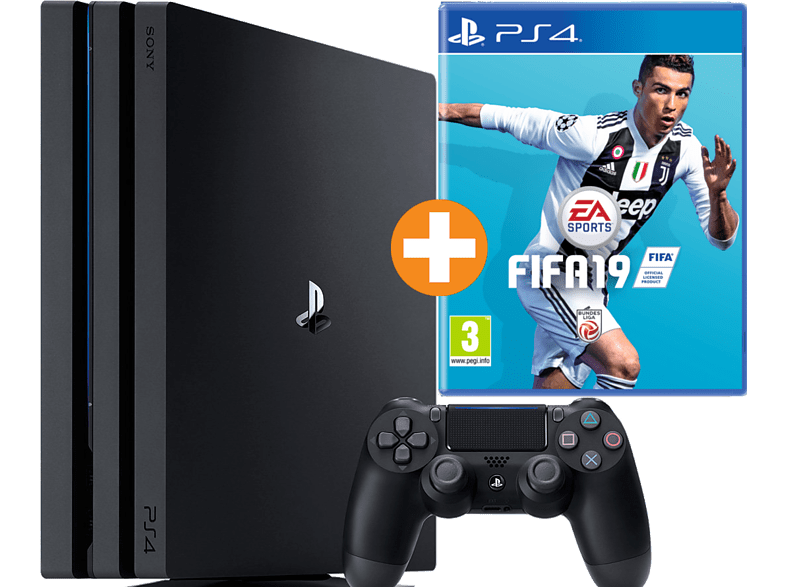 [saturn.at] SONY PS4™Pro 1TB Jet Black / EA Sports Fifa 19 Bundle za 389€
