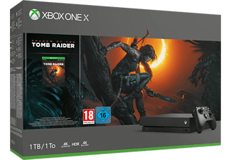 MICROSOFT Xbox One X 1 TB + Shadow of the Tomb Raider