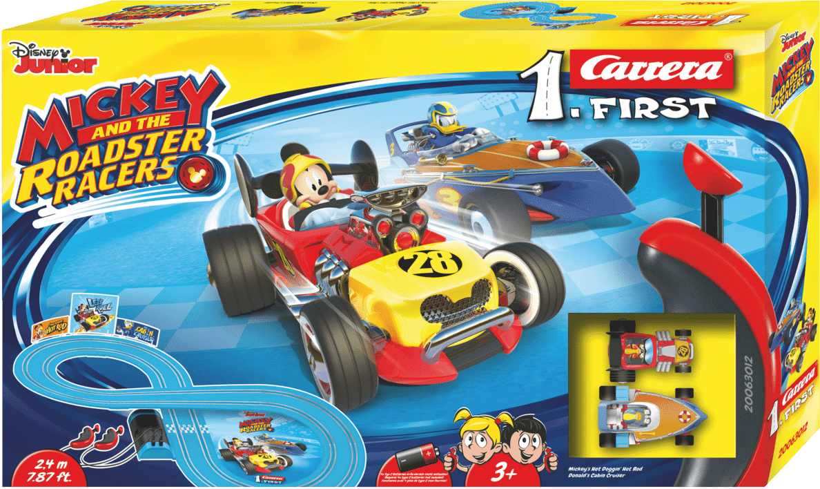 CARRERA (TOYS) FIRST - Mickey and the Roadster Racers Rennbahn, Mehrfarbig