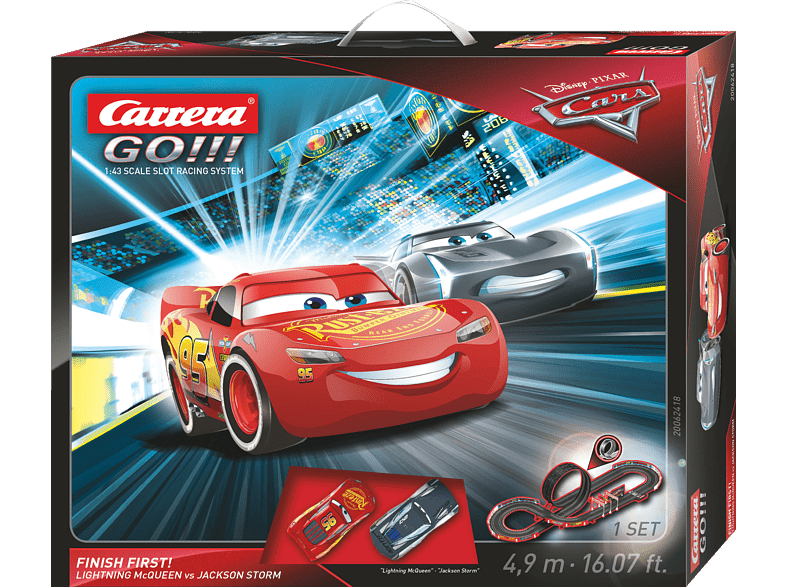CARRERA (TOYS)  Disney·Pixar Cars – Finish First! Rennbahn, Mehrfarbig | 04007486624184