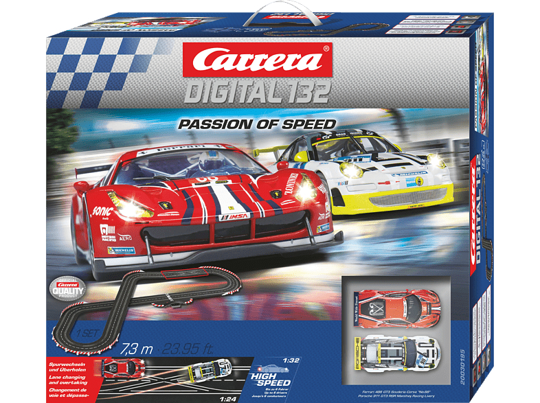 CARRERA (TOYS)  Passion of Speed Rennbahn, Mehrfarbig | 04007486301955