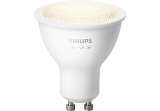 PHILIPS Hue White GU10, LED 1-er Spot, 6 Watt, kompatibel mit: HomeKit, QIVICON, SmartHome, ZigBee, Amazon Alexa (Echo, Echo Dot), Google Home, IFTTT