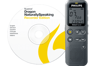 PHILIPS Dictaphone VoiceTracer 4 GB + Dragon Naturally Speaking (DVT1110PC)