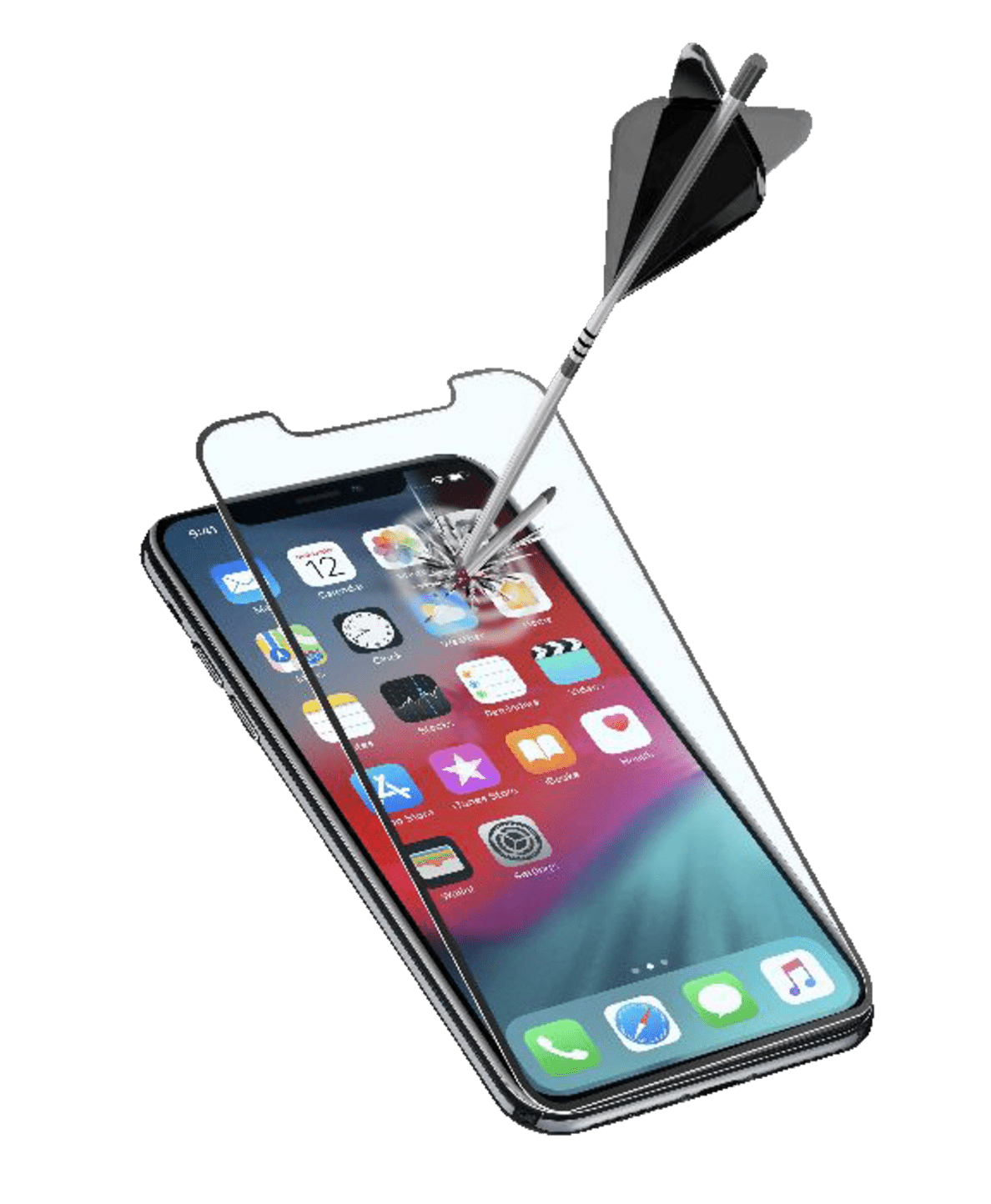 CELLULAR LINE  CAPSULE Displayschutzglas für Apple iPhone XS Plus | 08018080333736