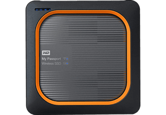 WESTERN DIGITAL SSD harde schijf My Passport Wireless 500 GB (WDBAMJ5000AGY-EESN)