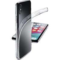 CELLULAR LINE FINE , Backcover, Apple, iPhone XS Max, Thermoplastisches Polyurethan, Transparent