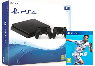 PLAYSTATION PS4 Slim 1 TB Zwart + extra controller + FIFA 19