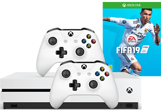 MICROSOFT Xbox One S 1 TB + manette extra + FIFA 19