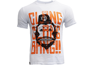 NUMSKULL Call of Duty Black Ops 4 Clang Clang Bang Graphic T-Shirt L T-Shirt, Grau