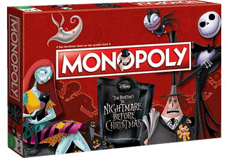 WINNING MOVES Monopoly Nightmare Bef. Christmas Brettspiel, Mehrfarbig