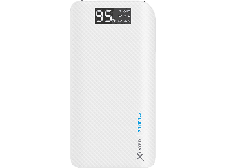 XLAYER Carbon Powerbank 72 Wh (3.6V / 20.000 mAh) Weiß