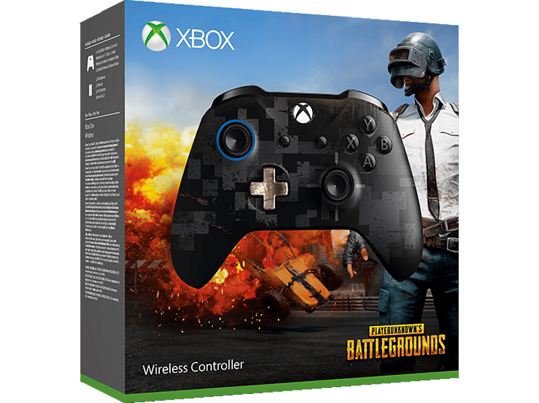 MICROSOFT Xbox Wireless Controller PUBG LE , Controller, Schwarz Digital-Camouflage