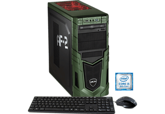 HYRICAN MILITARY GAMING 6020, Gaming PC mit Core™ i5 Prozessor, 16 GB RAM, 120 GB SSD, 1 TB HDD, GeForce® GTX 1060, 6 GB GDDR5 Grafikspeicher