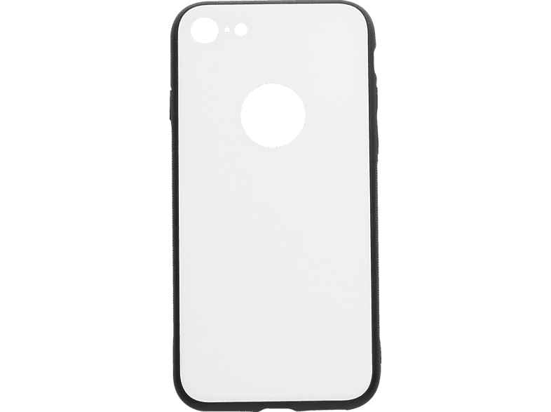 V-DESIGN VGL 015 , Backcover, Apple, iPhone 8/7, Glas, Weiss