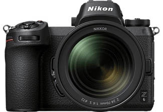 NIKON Z6 Kit Systemkamera 24.5 Megapixel mit Objektiv 24-70 mm 1:4 S, 8 cm Display   Touchscreen, WLAN