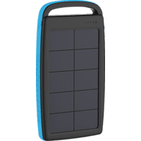 XLAYER PLUS Solar Powerbank 74 Wh (3.7V / 20.000 mAh) Schwarz/Blau