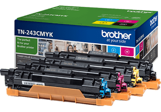 BROTHER TN-243CMYB Pack Zwart / Cyaan / Magenta / Geel