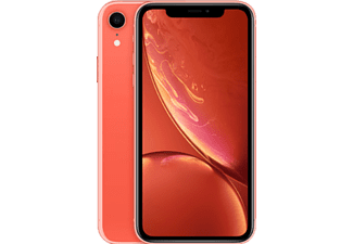 APPLE iPhone XR, Smartphone, 64 GB, Coral, Dual SIM