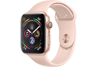 APPLE Watch Series 4 - Boîtier aluminium 44mm Gold - Bracelet sport Pink Sand
