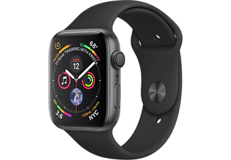 APPLE Watch Series 4 - Aluminium behuizing 44mm Space Gray - Sportbandje Black