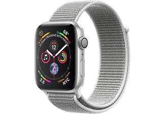APPLE Watch Series 4 - Boîtier aluminium 44mm Silver - Bracelet sport Loop Seashell