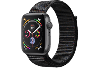 APPLE Watch Series 4 - Boîtier aluminium 40mm Space Gray - Bracelet sport Loop Black
