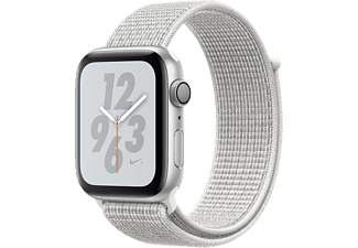 APPLE Watch Series 4 Nike+ - Boîtier aluminium 40mm Silver - Bracelet sport Loop Summit White Nike