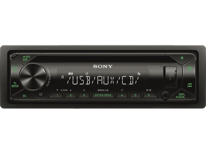 SONY CDX-G1302U CD Receiver 1 DIN,