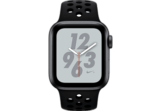 APPLE Watch Nike+ Series 4 GPS Space Grau, 40 mm Aluminiumgehäuse mit Nike Sportarmband, Anthrazit/Schwarz