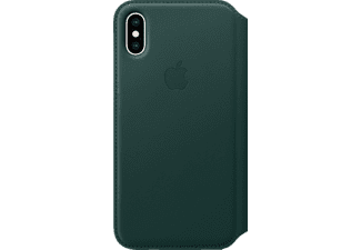 APPLE XS Leder Folio Handyhülle, Apple iPhone XS, Waldgrün
