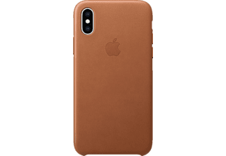 APPLE XS Leder Case Handyhülle, Apple iPhone XS, Sattelbraun