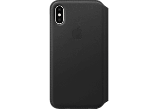 APPLE XS Leder Folio Handyhülle, Apple iPhone XS, Schwarz