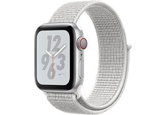 APPLE Watch Series 4 GPS + Cellular eSIM Nike+ 40mm Aluminiumboett i Silver - Sportloop i Snövitt