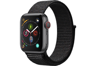 APPLE Watch Series 4 GPS + Cellular eSIM 40mm Aluminiumboett i Rymdgrå - Sportloop i Svart