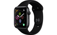 APPLE Watch Series 4 44mm Space Grey με Μαύρο Sport Band 1c7816f8db0