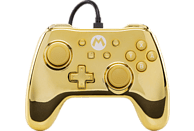 POWER A Switch Wired Chrome Controller Gold Mario Controller, Gold