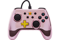 POWER A Switch Wired Chrome Controller Pink Peach Controller, Rosa/Schwarz