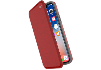 SPECK Cover Presidio Folio iPhone Xs/X Heartrate Red / Heartrate Red / Grey (110575-7359)