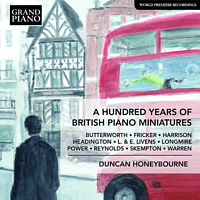 Honeybourne Duncan - A hundred years of BritishPiano Miniatures [CD]