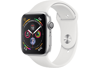 APPLE Watch Series 4 - Aluminium behuizing 40mm Silver - Sportbandje White