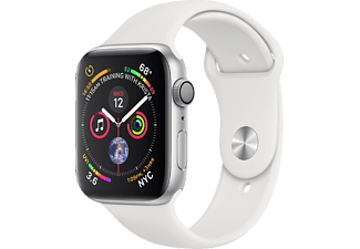 APPLE Watch Series 4 - Boîtier aluminium 44mm Silver - Bracelet sport White