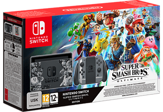 NINTENDO Switch Grijs + Super Smash Bros Ultimate (2500666)