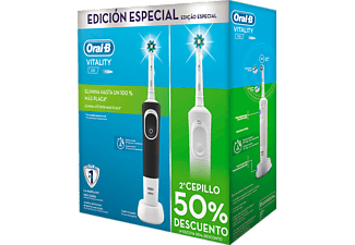 Pack Cepillo eléctrico - Oral-B Pack Vitality Duplo (Blanco+Negro)