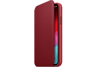 APPLE Cover Folio en cuir iPhone Xs (Product)Red (MRWX2ZM/A)